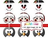 Bottle Cap Image Sheet - Instant Download - Christmas 2 -  1 Inch Digital Collage - Buy 2 Get 1 Free