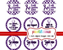 Bottle Cap Image Sheet - Instant Download - Relay for Life 3 -  1 Inch Digital Collage - Buy 2 Get 1 Free