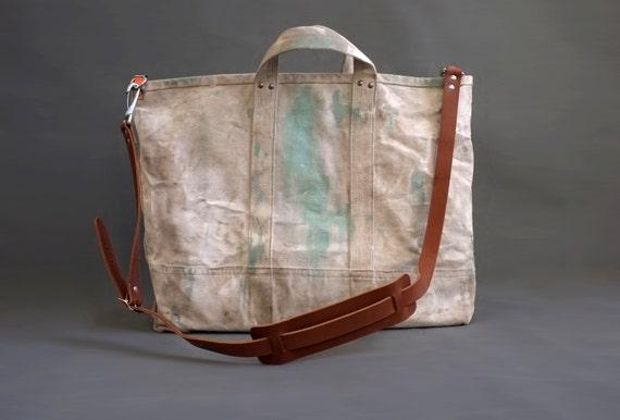 vintage Heavy Duty Canvas work bag lineman bag. Paint