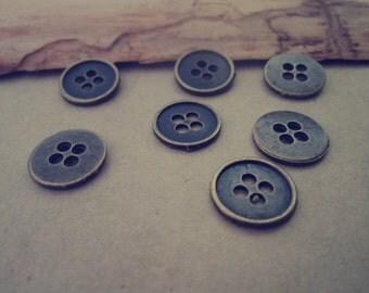 20pcs of Antique bronze button  Pendant charm 13mm