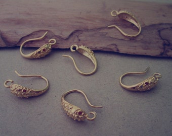 10pcs 11mmx15mm gold  color (copper) ear hooks Earrings Accessories