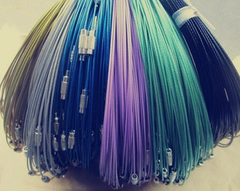 30pcs assorted color (6 color)1mm 18inch   stainless steel wire