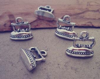 20pcs antique silver iron Charm pendant 13mmx14mm