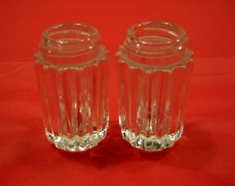 vintage cut glass  salt & pepper . . .  from 1940's . . . .  excellent condition