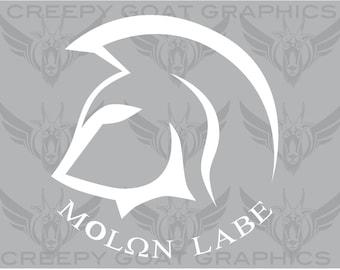 Molon Labe Decal.  - Sticker By Creepy Goat Graphics