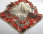 Vintage Vera Neumann 1950s Silk Scarf with hand rolled edge
