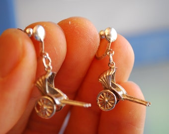 925 STERLING SILVER Antique EARRINGS - Dangle Earrings
