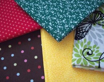 5 Piece Fat Quarter 100% Cotton Print Fabric - #4