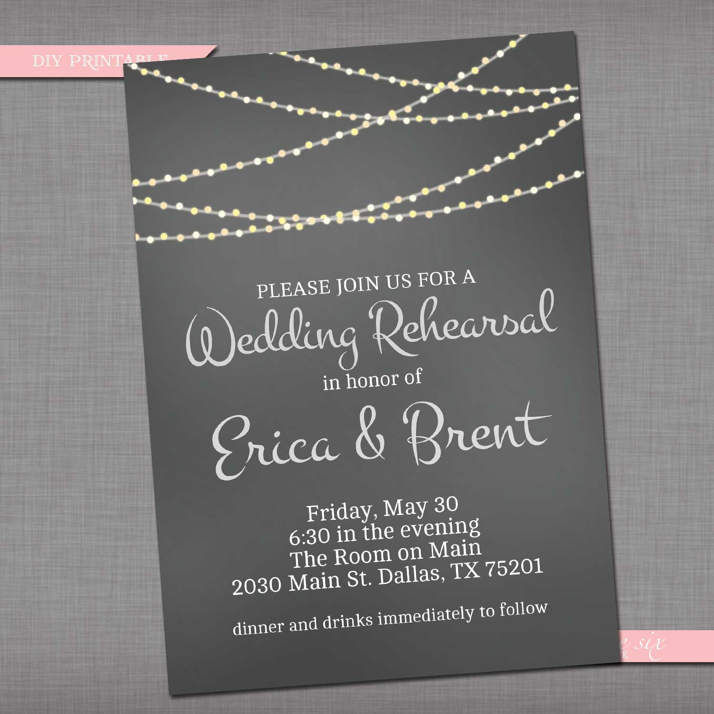 Chalkboard Glowing String Lights Invitation Bach Or Bridal