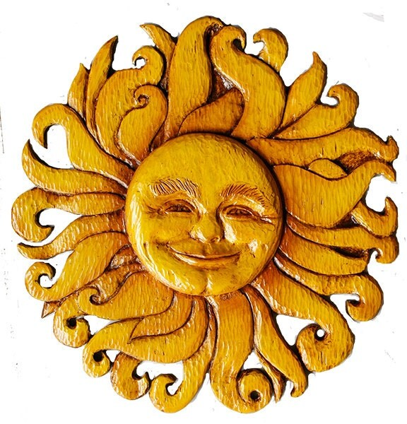 Sun Face Wall Decor Celestial Plaque