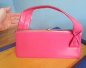 Vintage 1960s Women's Hot Pink Purse