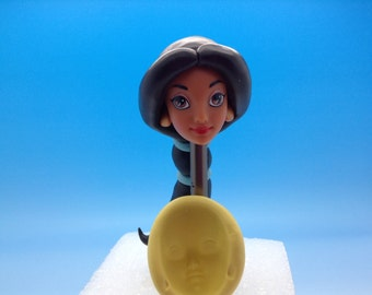 Princess Jasmin face-silicone mold-Aladdin movie.