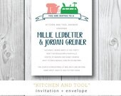 Kitchen and Tool Shower / His and Hers / Banner / Bridal Shower / Preppy and Modern / Custom Design by Darby Cards