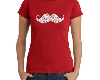 Women's T-shirt - Created out of different Ways to Style a Moustache