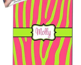 Personalized Zebra Fleece Blanket - Any Color