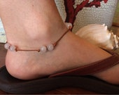 White Jade Leather Anklet