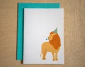 Lion - Birthday Day Party Card