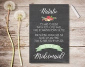 Will You Be My Bridesmaid Printable