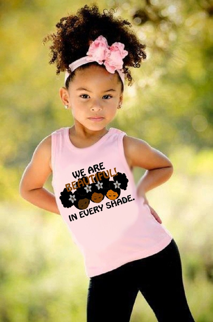 Afro T Shirt Beautiful Shade Girlstank Top 2t 6t Or Kids