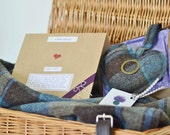 Wedding Gift - Tweed Heart with Scottish Wedding Blessing in Gift Box - Small Scottish Inspired gift
