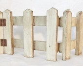 Boyd's Bearly Whitewashed Wooden Picket Fence