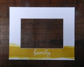 Customizable Letterpress Family Picture Frame Mat with Hand-rolled Ink