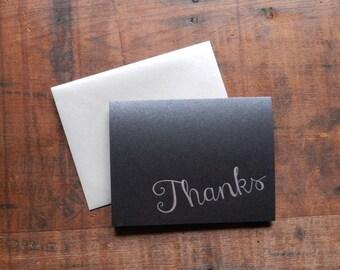 Letterpress Thanks Notecard