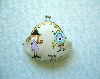 SHOP CLOSING SALE  Cute Little Monsters Coin Purse - Handmade Gift, Birthday Gift