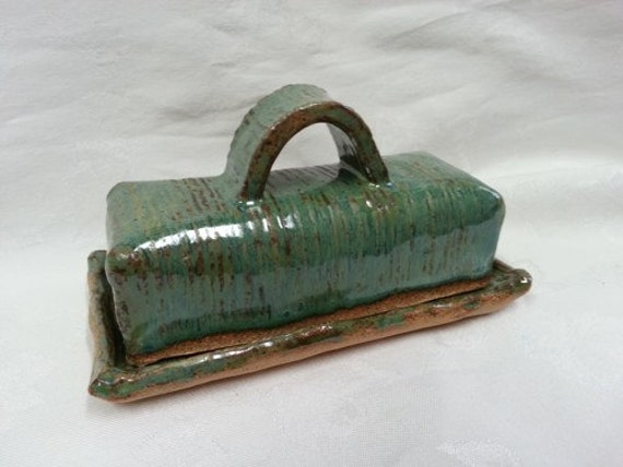 Items Similar To Hand Made Stoneware Butter Dish With Lid