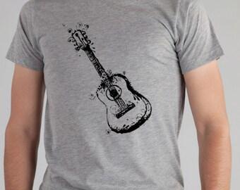 Guitar TShirt For Men, Mens GUITAR TShirt, Guitar Shirt Mens TShirt For Musicians