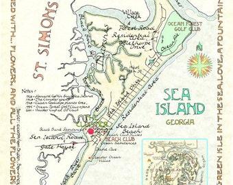 Sea Island, Georgia in Two Sizes