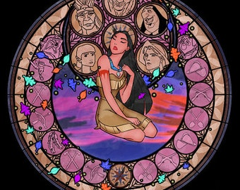 Cross Stitch Pattern for Pocahontas Kingdom Hearts Princess