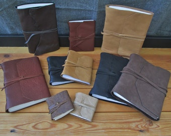 Custom Leather Journals, Choose Size & Color!