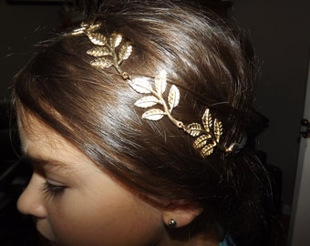 Gold Leaf Headband, Gold Headband, Wreath Headband, Roman Headband, Gold Leaf, Headband