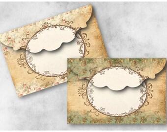 Digital Collage Sheet Download - Antique Frame Envelopes -  944  - Digital Paper - Instant Download Printables