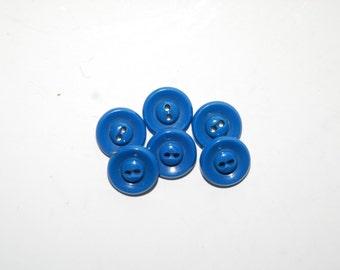 Set of Six Vintage Plastic Buttons