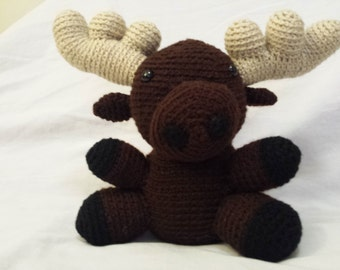 Crochet Moose Stuffed Animal