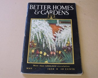 1928 Better Homes & Gardens Magazine with Original Subscription Order Blank