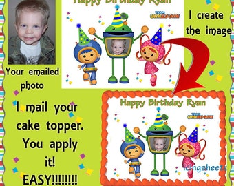 Team UmiZoomi cake transfer decal  top photo edible image birthday topper decoration frosting sheet