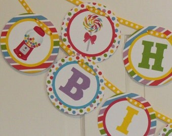SWEET SHOPPE  Party Happy Birthday or Baby Shower Party Banner - Party Packs Available