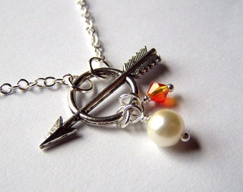 Burning Man Bow Arrow Necklace - Jewelry Bow and Arrow Games Jewelry