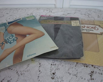 Vintage Three Pairs Pantyhose New Old Stock
