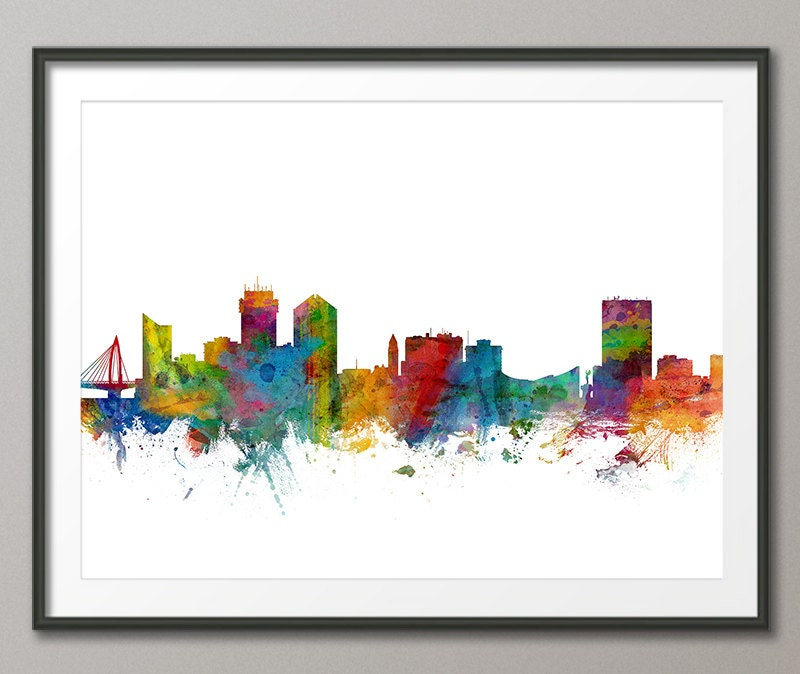 Wichita skyline wichita kansas cityscape art print 1258 for Craft stores wichita ks