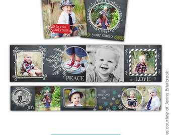 INSTANT DOWNLOAD - Christmas Accordion mini template 3x3 - To you - E543