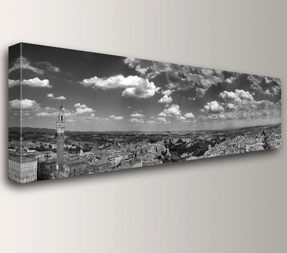"""Black and White Photography - Wall Art - Canvas Print - Panorama Wall Art - """" Sienna """""""