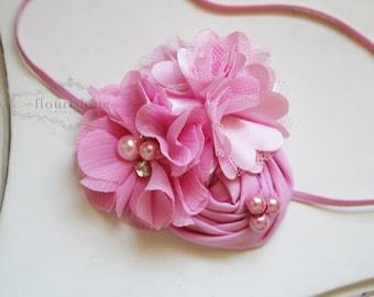 Pink headband, baby headbands, newborn headbands, pink headbands, back to basics headbands,  photography prop