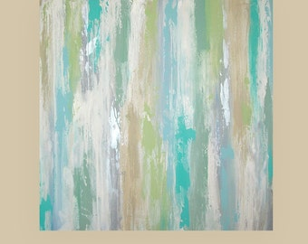 Abstract Painting,Painting,Art,Canvas Art,Acrylic Painting,Original Paintings By Ora Birenbaum By the Shore 36x36x1.5""
