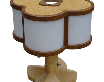 A Glow That Illuminates: Walnut And Curly Maple Table Lamp