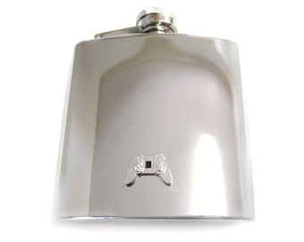 Game Controller 6 oz. Stainless Steel Flask