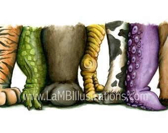 Animal Feet - Large Print